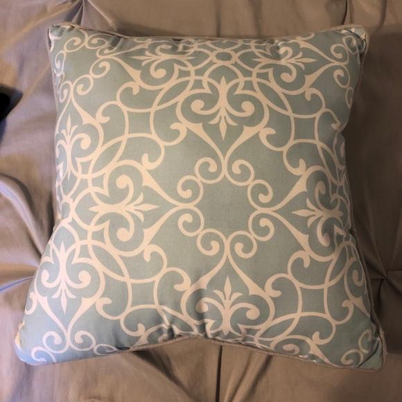 Envogue Other - Detailed light blue throw pillow